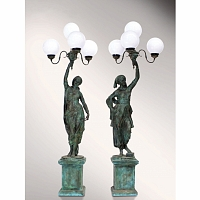 PERECHE STATUETE-LAMPADARE DE GRADINA TzA-TzA Design _ GARDEN GITANE